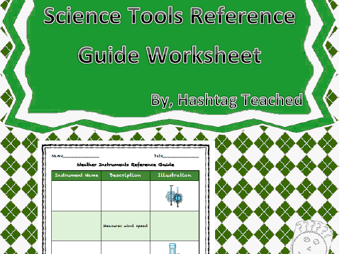 Weather Instruments Reference Guide Worksheet By Hashtagteached