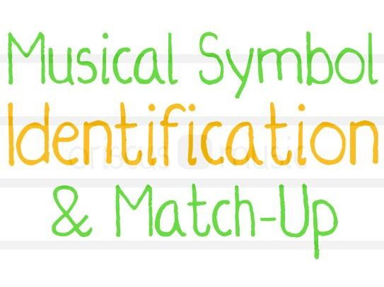 Musical Symbol Identification and Match-Up Quiz Worksheet Pack