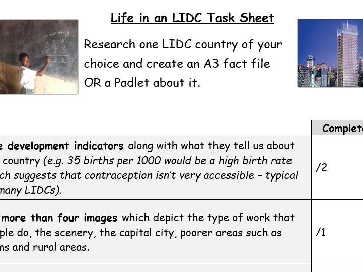Life in an LIDC Task