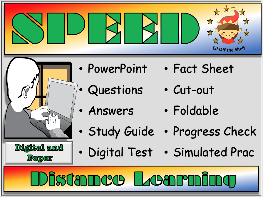 Forces - Speed- Distance Learning and Homeschool for KS3