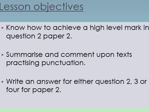 GCSE English language paper 2