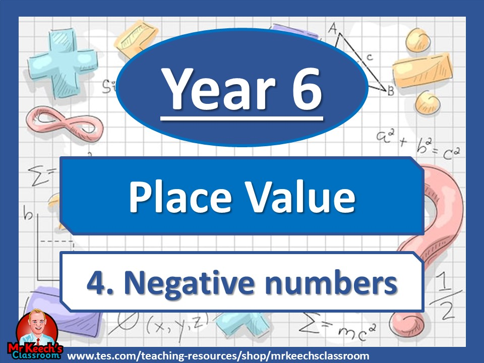 Year 6- Place Value - Negative numbers - White Rose Maths