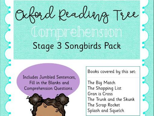ORT - Oxford Reading Tree Stage 3 Songbirds Comprehension Pack