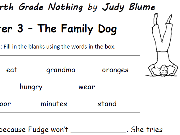 Tales of a Fourth Grade Nothing - Chapters 1-5 - Printable handouts