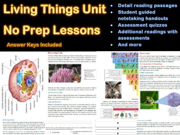 Living Things Unit (Everything you need in one bundle) Distance Learning