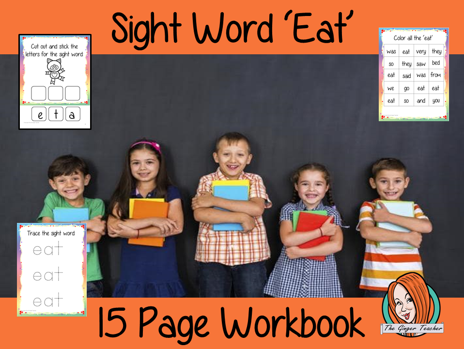 Sight Word 'Eat' 15 Page Workbook