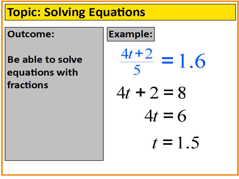 Solving Multistep Equations