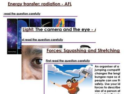 KS3 Physics six mark questions
