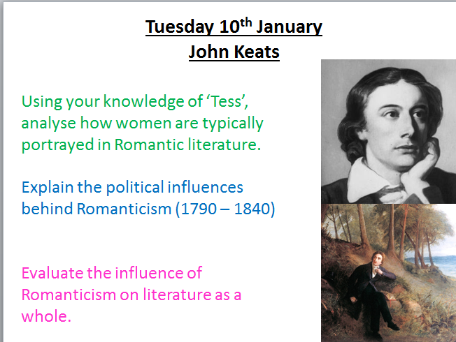 Keats Poetry - AQA Aspects of Tragedy