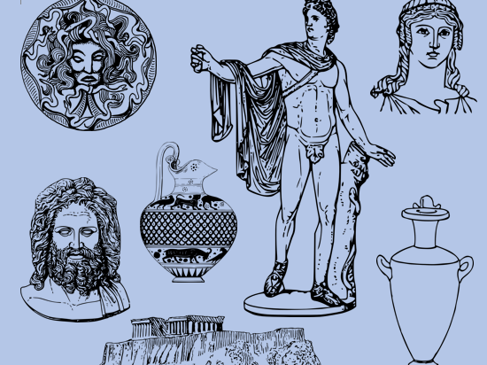 Ancient Greece Images for Colouring and Display