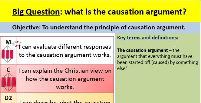 Causation argument lesson