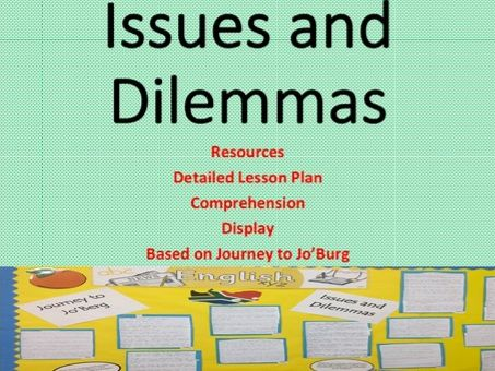 Issues and Dilemmas- Lesson Plan and Resources