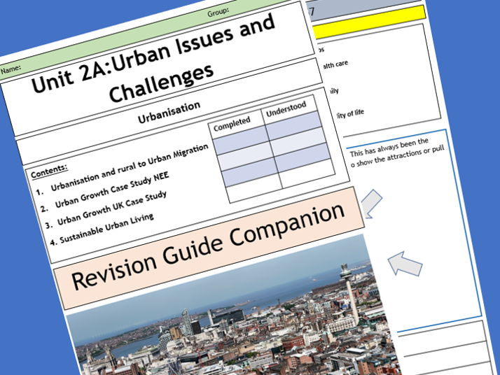 AQA 9-1 GCSE Revision Guide Companion - The Changing Urban World.