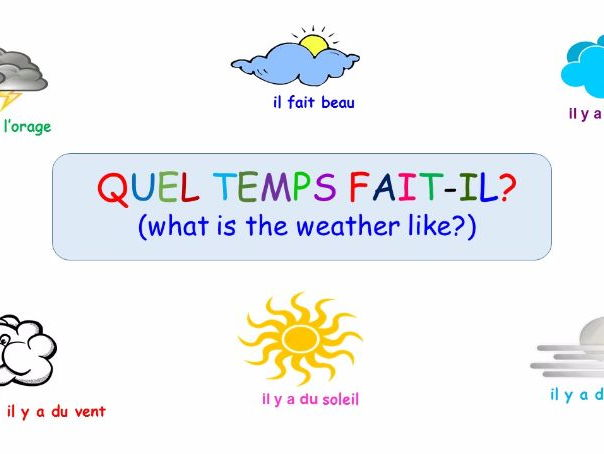 French worksheets ks2 weather