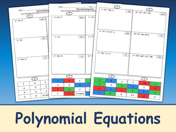 Polynomial Equations Color Mosaic