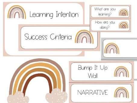 Rainbow Learning Wall