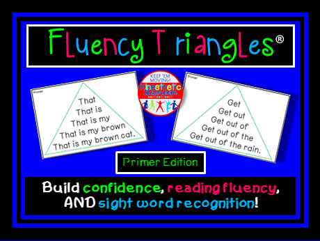 Reading Fluency - Fluency Triangles® for Primer Sight Words