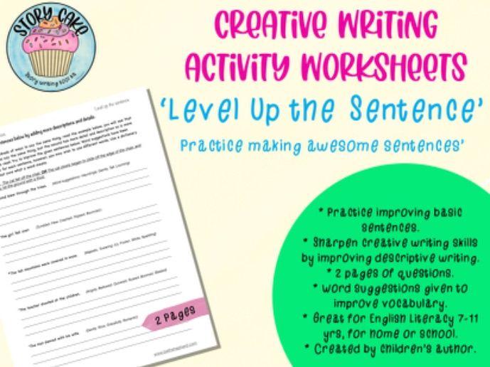 Awesome sentences - 'Level up the sentence', creative writing, improving, descriptive, english