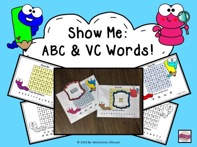 Letter/Sound and VC Words Phonics Activity