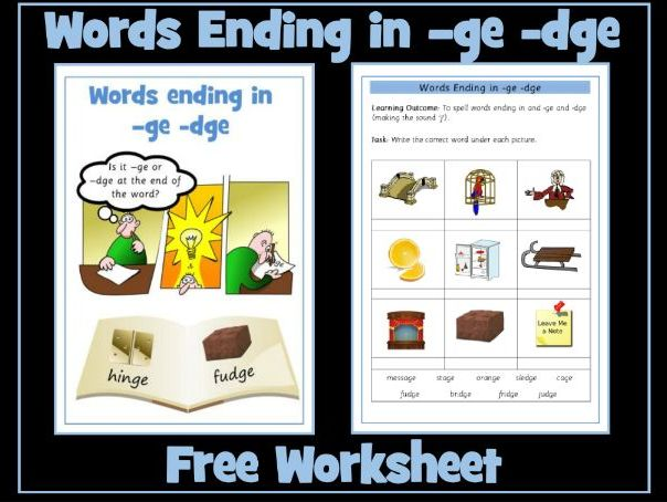 -ge and -dge sounds / words