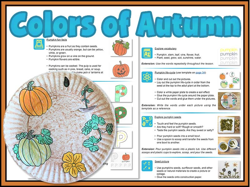 Colors of Autumn: creative art and science