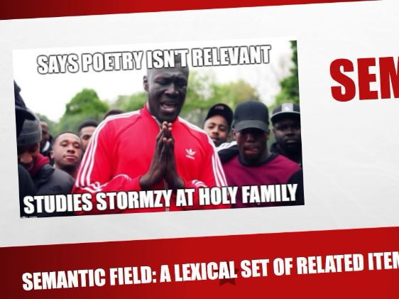 Using Stormzy lyrics to analyse semantic fields