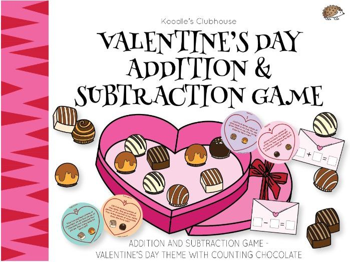 Valentine's Day Math Word Problem Game with Chocolates!