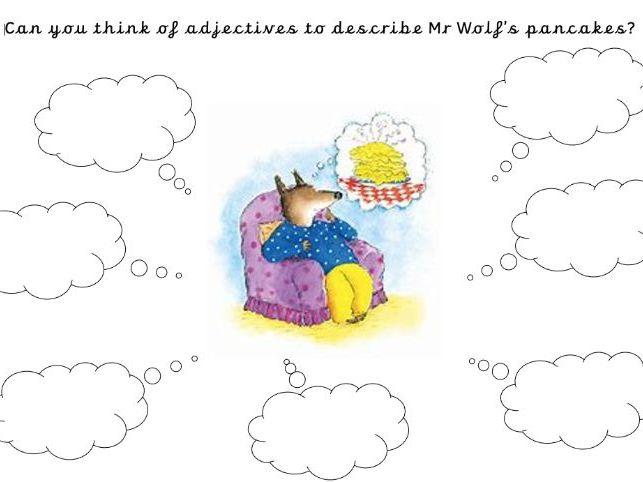 Mr Wolf's pancakes adjective activity