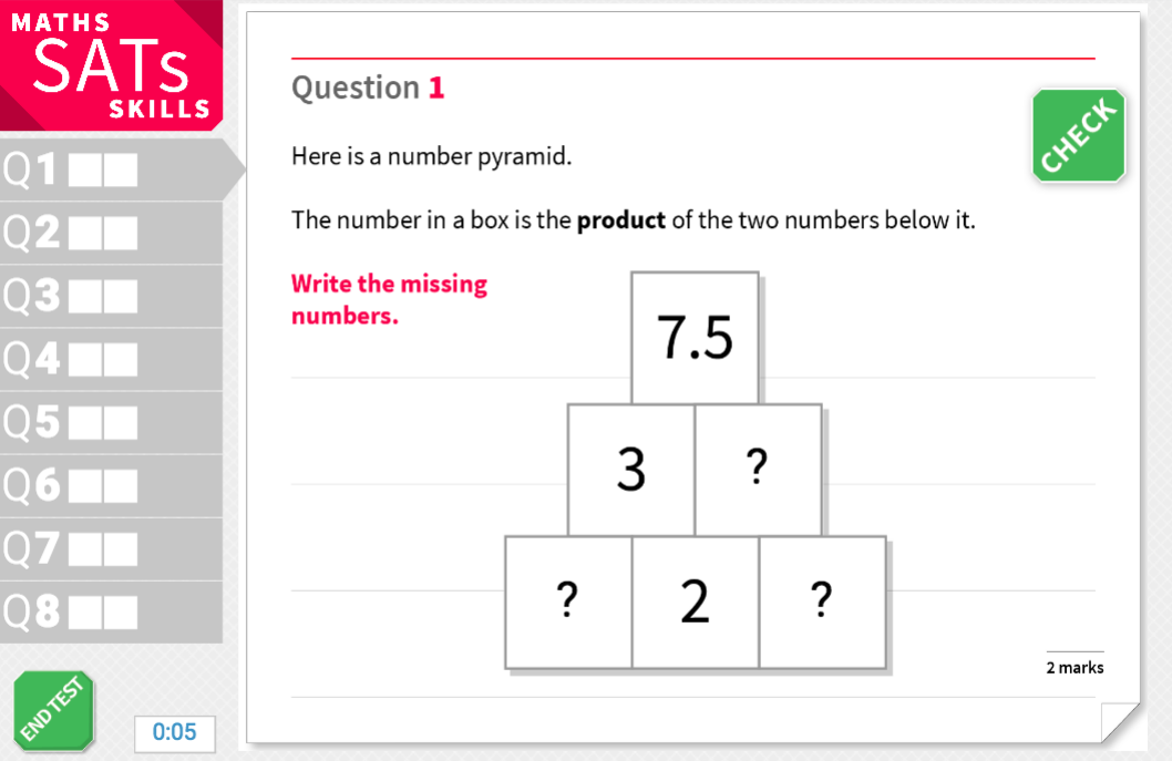 Multiply numbers up to two decimal places - KS2 Maths Sats Reasoning - Practice Worksheet