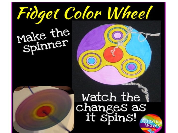 Make a Paper Fidget Spinning Wheel Craft and Science of Newton's Colour Wheels