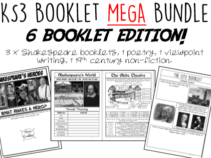 KS3 6 Booklet MEGA Bundle - 45% discount