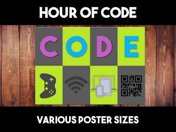 Hour of Code Wall Display Poster
