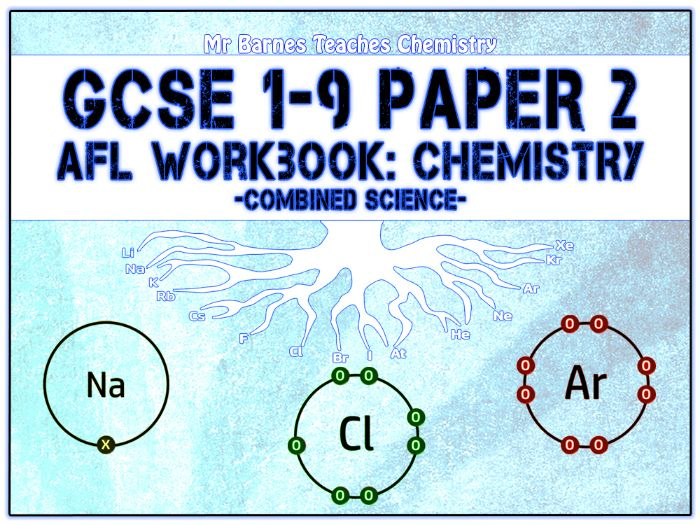 GCSE Combined Science 1-9 - Chemistry Paper 2 AfL Workbook
