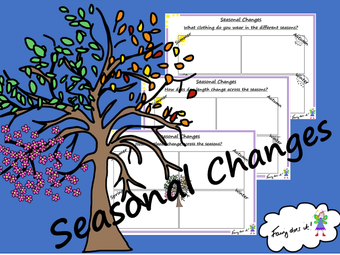 Seasonal Changes Recording Sheets