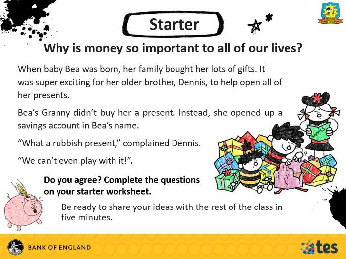 Lesson 8 Money and me - Why is money so important? (English curriculum)