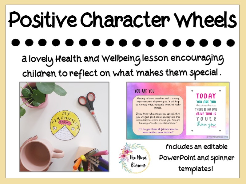 Positive Characteristics Wellbeing Wheel