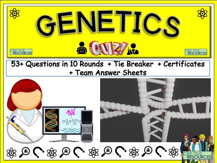 Genetics Science Quiz