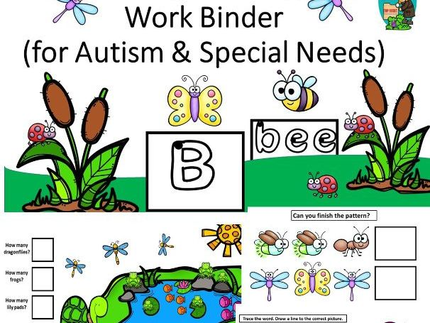 Spring Morning Work Binder for Autism