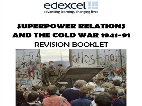 GCSE History Edexcel Revision Guide and Workbook: Superpower Relations and the Cold War