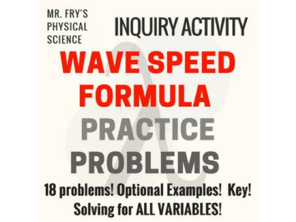 Wave Speed Formula Practice Problems