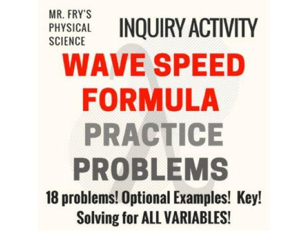 Wave Speed Formula Practice Problems
