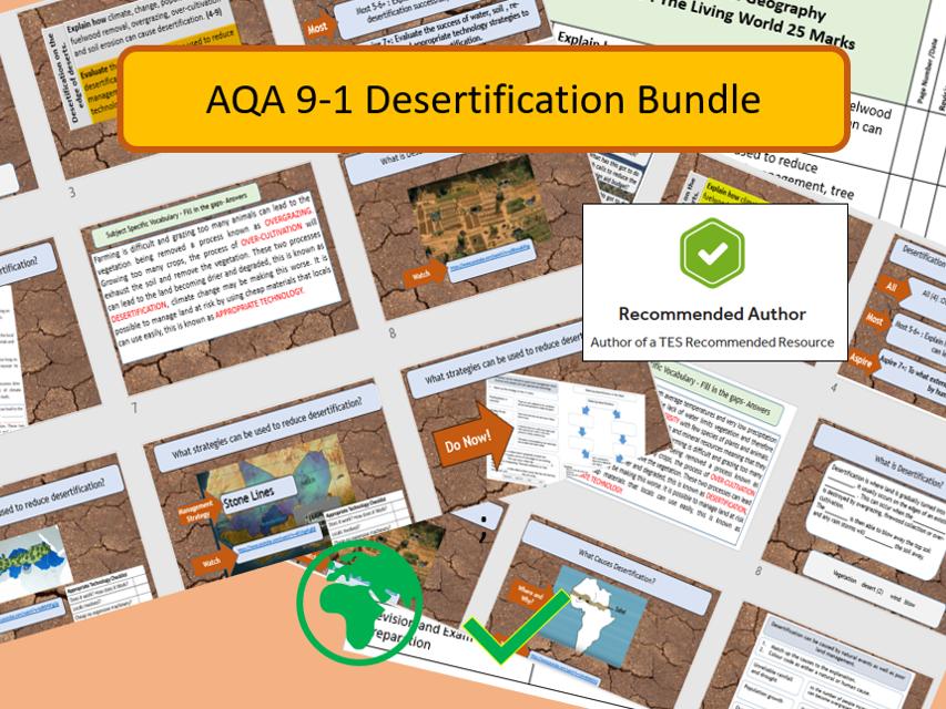 AQA GCSE 9-1 Hot Deserts Desertification Bundle