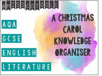 A Christmas Carol Knowledge Organiser/ Revision Mat (AQA)