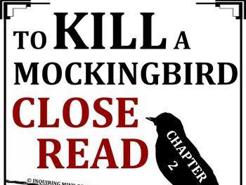 To Kill a Mockingbird Close Reading Worksheet (Chapter 2; ACT Prep)