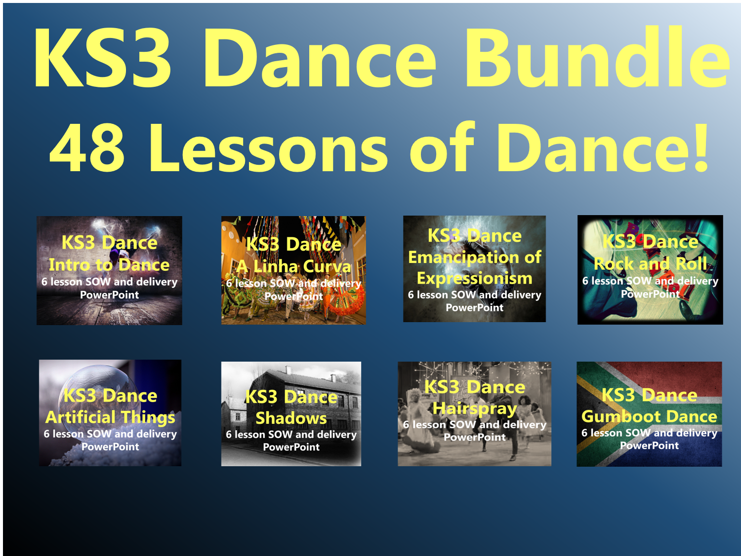 KS3 Dance Bundle - 48 Lessons of Dance!