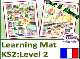 PRIMARY FRENCH VOCABULARY LEARNING MAT (KS2/3): Accommodation, Environment, ER verbs