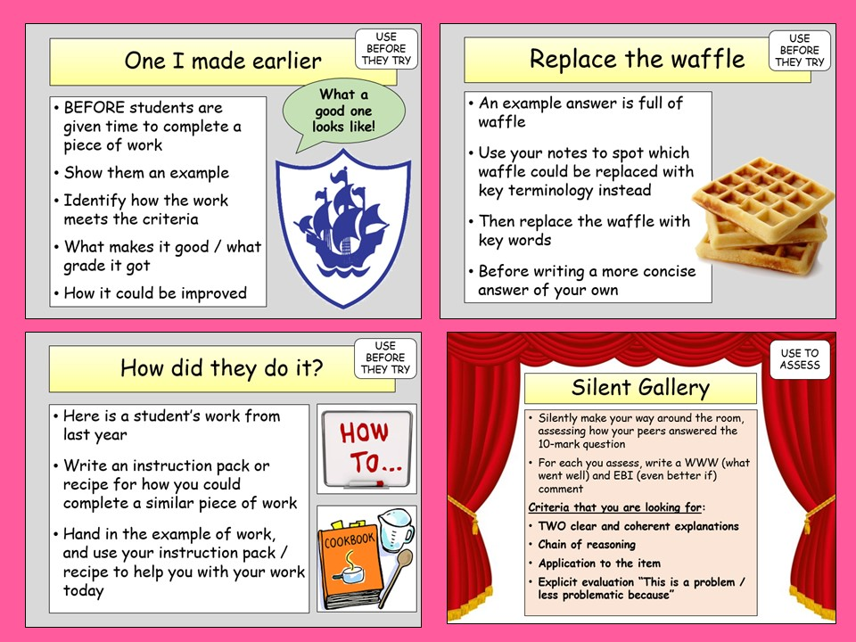 10 Role Model Answer Activities