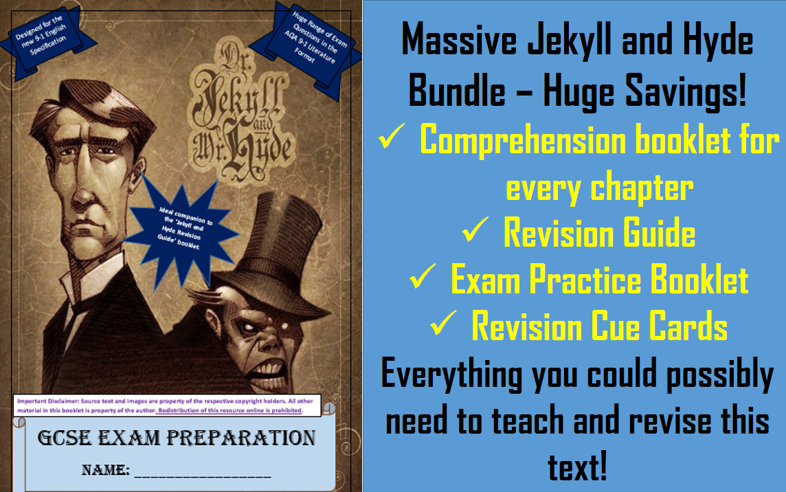 The Ultimate Jekyll and Hyde Study Bundle. 10X booklets. 9-1 AQA Literature Spec.  60% Savings