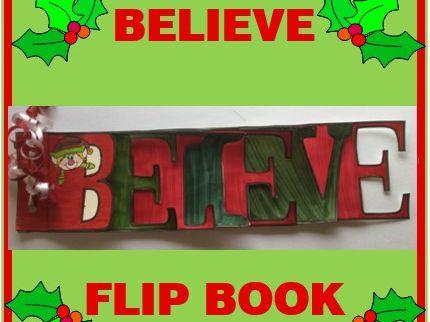 Christmas Crafts - BELIEVE Flip Book