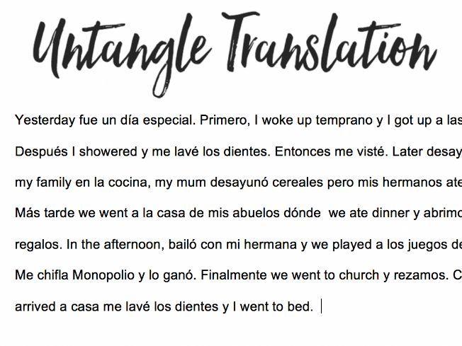 Daily Routine - Preterite - Untangle Translation - Un Día Especial